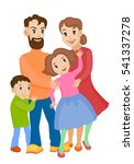 fun cartoon family in colorful... | Shutterstock .eps vector #541337278