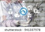 syringe injection pharmacy... | Shutterstock . vector #541337578