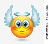 cute angel emoticon with wings  ...   Shutterstock .eps vector #541337803