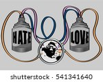 love and hate | Shutterstock .eps vector #541341640