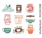 set retro vintage logos for... | Shutterstock .eps vector #541342288