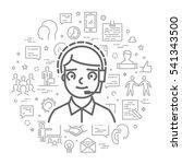 vector line web concept for... | Shutterstock .eps vector #541343500