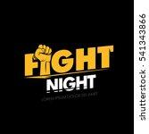 fight night. modern... | Shutterstock .eps vector #541343866