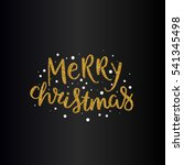 vector merry christmas text... | Shutterstock .eps vector #541345498