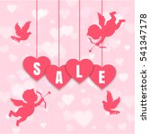 valentine's day sale  banner... | Shutterstock .eps vector #541347178