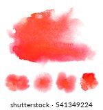 set of bright red transparent... | Shutterstock . vector #541349224