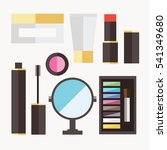 beauty cosmetic icons | Shutterstock .eps vector #541349680