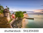 san juan  puerto rico caribbean ... | Shutterstock . vector #541354300