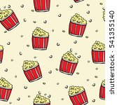 seamless pattern with buckets... | Shutterstock .eps vector #541355140