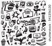 cinema icons | Shutterstock .eps vector #541356130