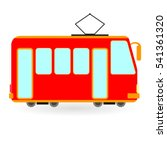 vintage red tram drawing... | Shutterstock .eps vector #541361320