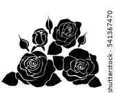 silhouette of rose on a white... | Shutterstock .eps vector #541367470