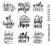 vector set of vintage bakery... | Shutterstock .eps vector #541370173