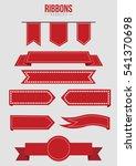 red ribbons banner | Shutterstock .eps vector #541370698