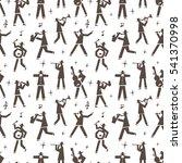 jazz band seamless background | Shutterstock .eps vector #541370998