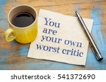 you are your own worst critic   ... | Shutterstock . vector #541372690