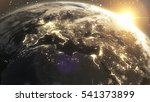 planet earth cosmic night view... | Shutterstock . vector #541373899
