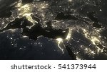 the earth from space at night... | Shutterstock . vector #541373944