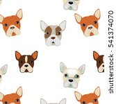 french bulldogs seamless... | Shutterstock .eps vector #541374070