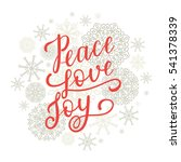 peace love joy greeting card... | Shutterstock .eps vector #541378339