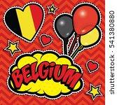 happy birthday belgium   pop... | Shutterstock .eps vector #541380880