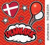 happy birthday denmark   pop... | Shutterstock .eps vector #541381054
