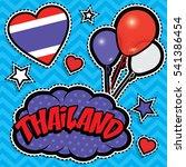 happy birthday thailand   pop... | Shutterstock .eps vector #541386454
