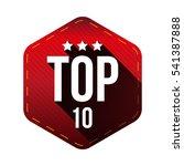 top 10    ten vector hexagon... | Shutterstock .eps vector #541387888