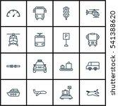 set of 16 transportation icons. ... | Shutterstock .eps vector #541388620