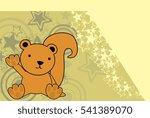 sweet baby squirrel cartoon... | Shutterstock .eps vector #541389070