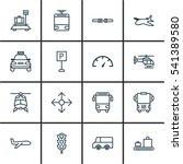 set of 16 delivery icons.... | Shutterstock .eps vector #541389580