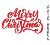 merry christmas red ink brush... | Shutterstock . vector #541390768