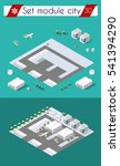 isometric 3d city airport with... | Shutterstock .eps vector #541394290