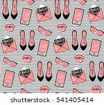 vector fashion background with... | Shutterstock .eps vector #541405414