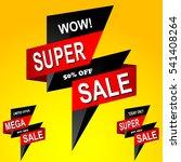 super sale poster. 50 percent... | Shutterstock .eps vector #541408264