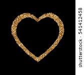 gold heart glittering isolated... | Shutterstock .eps vector #541412458