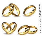 set of realistic shiny gold... | Shutterstock .eps vector #541412578