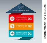 infographic arrow design... | Shutterstock .eps vector #541413028