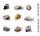 rocks and stones mountain set.... | Shutterstock . vector #541415938