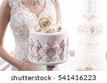 luxurious wedding cake   | Shutterstock . vector #541416223