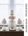 luxurious wedding cake and... | Shutterstock . vector #541416403