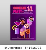 valentine's day cocktail party... | Shutterstock .eps vector #541416778