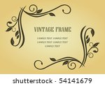 floral frame in victorian style ...   Shutterstock .eps vector #54141679