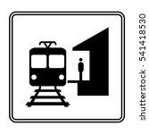 electro train stop | Shutterstock .eps vector #541418530
