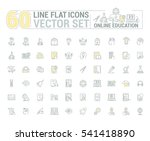 vector graphics set. online... | Shutterstock .eps vector #541418890