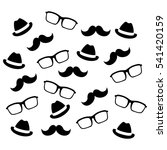 mustaches glasses and hats icon ... | Shutterstock .eps vector #541420159