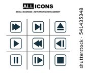 set of 9 multimedia icons....