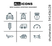 set of 9 vehicle icons.... | Shutterstock .eps vector #541436128