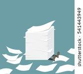 businessman under the paper... | Shutterstock .eps vector #541443949