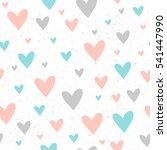 heart seamless pattern... | Shutterstock .eps vector #541447990